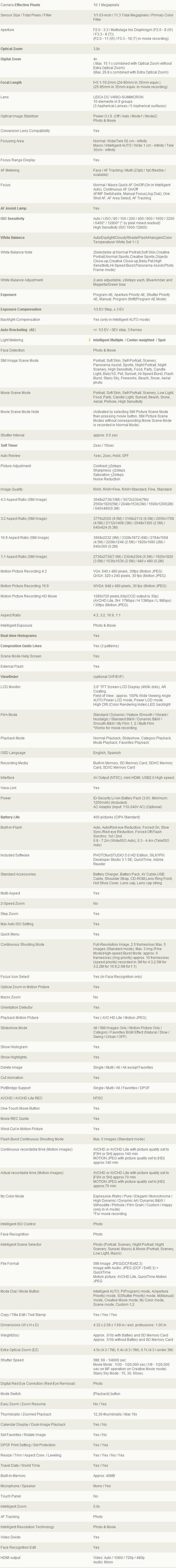 Panasonic Lumix DMC-LX5K high end compact=