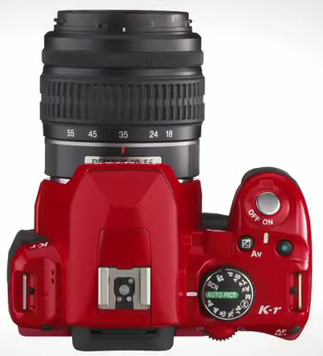 Pentax K-r mid priced dSLR comes in bright red