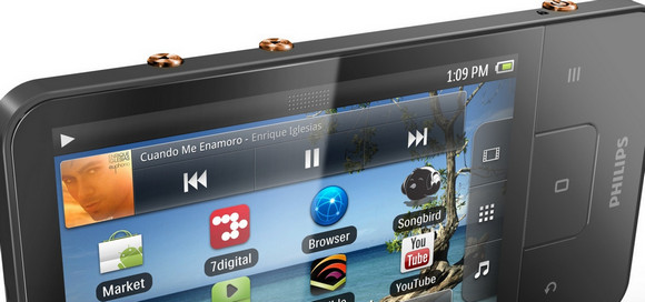 Philips GoGear Connect 3 media player packs in Android 2.3