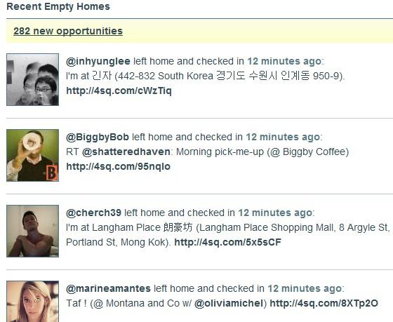 PleaseRobMe website highlights danger of location sharing Tweeting