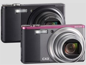 Ricoh CX3 10MP digicam pack CMOS sensor and HD movie