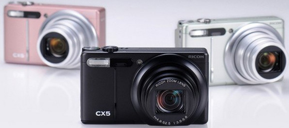 Ricoh CX5 superzoom compact=