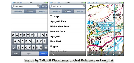 iPhone outdoors: Ordnance Survey mapping for wallkers
