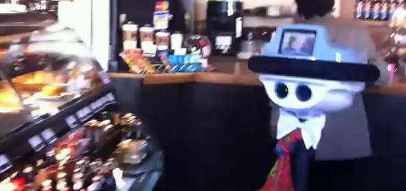 Robots rolls into cafe, orders scone to go
