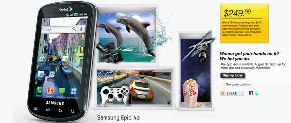 Samsung Epic Android handset launches on Sprint - will it live up to its name?