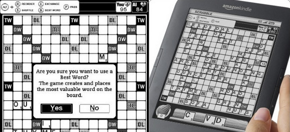 Scrabble for Kindle app released