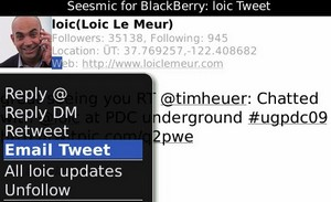 Seesmic Mobile Twitter Apps for Android and BlackBerry