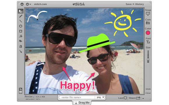 Skitch app for Mac goes free, Android app promises 'addictive' fun