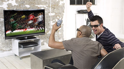 Sky 3DTV launches in April - beery football fans get early look