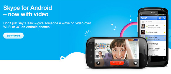 Android Skype 2.5- more handset support plus 'enhanced ...