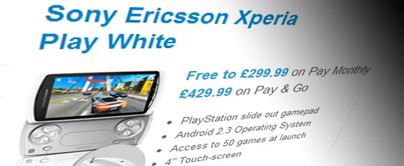 Sony Ericsson Xperia Play in white for o2 exclusive