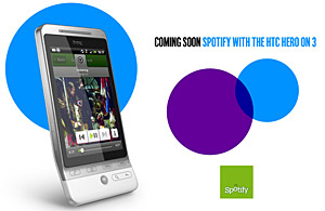 Spotify and 3 announce HTC Hero tie-in