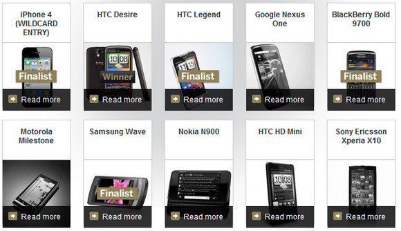 T3 tech awards: HTC Desire triumphs over iPhone 4, Apple bag awards galore
