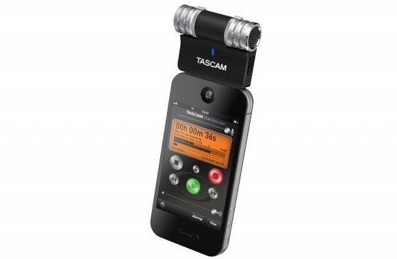 Tascam iM2 stereo mic adds pro recording capability to Apple iOS devices