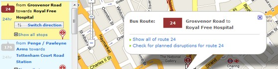 TFL's new interactive bus map for Londoners
