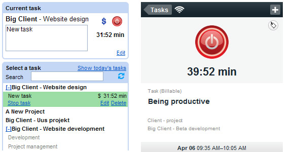 Toggl time tracking tools look a treat for your timesheet needs