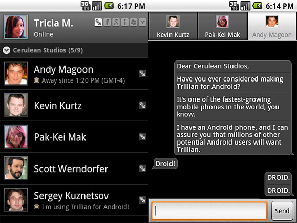 Trillian for Android instant messaging app on its way
