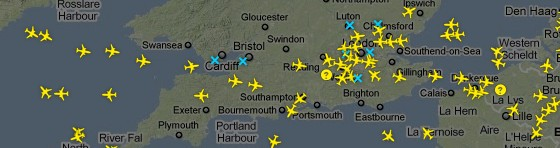 Watch live as aircraft empty the UK skies to escape volcanic ash eruption
