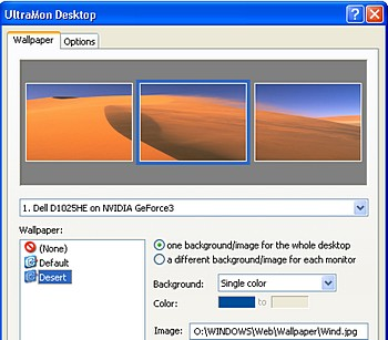 Manage multiple monitors with UltraMon Windows utility