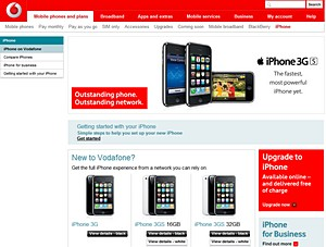 Vodafone UK launches the iPhone - expects 50,000 sales today