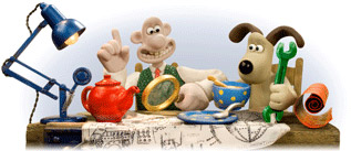 Google celebrates Wallace and Gromit