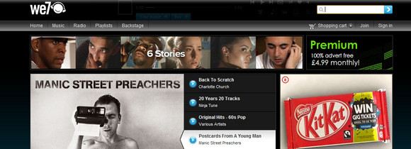 We7 music streaming site serves up Android free trial