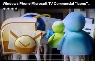 Windows Mobile advert: it's a bit odd