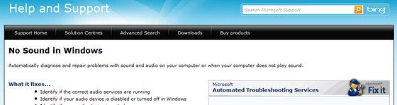 Fixing sound issues with Vista/Windows 7