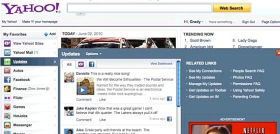 Yahoo adds in deep Facebook integration