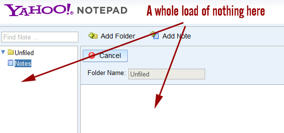 Yahoo Notepad borked as users find an empty page where their notes should be