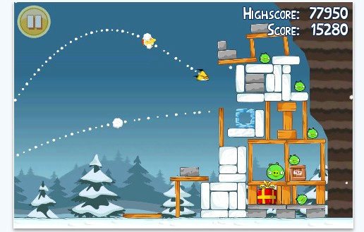 Angry Birds Christmas edition for iPhone and Android