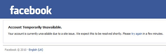 Facebook suffers a 'site issue'