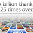 Apple has announced that their App Store has now registered the staggering total of  25 billion downloads.