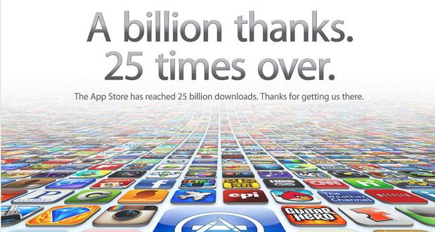 Apple stampedes through the 25 billion app download landmark