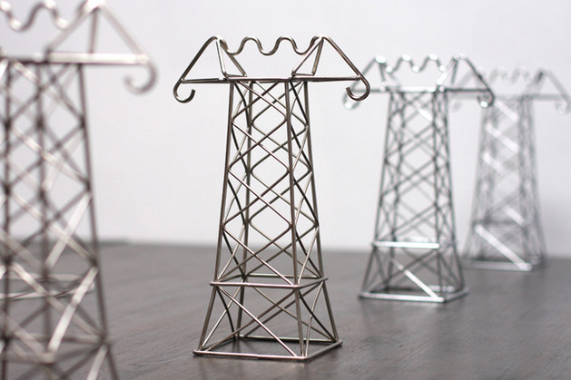 Clear cable clutter with these crazy but cute desktop pylons