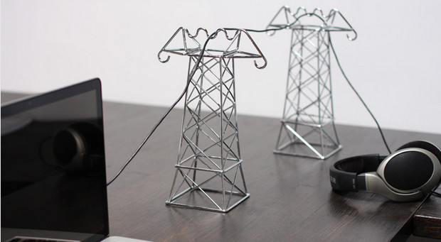 Clear cable clutter with these crazy desktop pylons