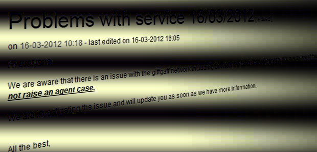 Customers rage as GiffGaff service goes AWOL,calls, voicemail and data offline for hours