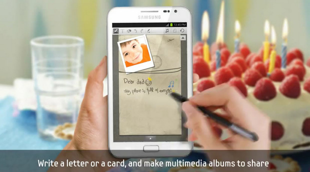 Samsung taunts Galaxy Note users with videpo of ICS premium suite apps