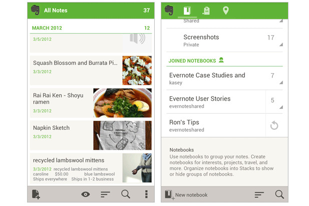 Evernote 4.0 for Android emerges with improved lists and a snazzier homescreen