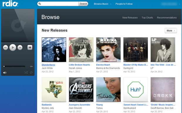 Rdio takes on Spotify and offers a rival music streaming service for the UK