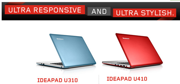 Lenovo introduce competitively-priced U310 and U410 ultrabooks, available in UK and US