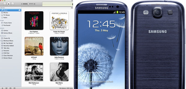 Samsung Galaxy phones to offer iTunes syncing