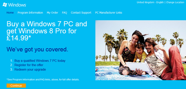Windows 8 Pro upgrade costs announced for UK users