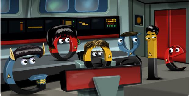 Google shows off its best ever doodle - a wonderful Star Trek themed number
