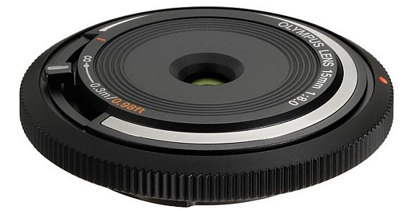 Olympus release 15mm f/8 Micro Four Thirds lens that is the size of a lens cap