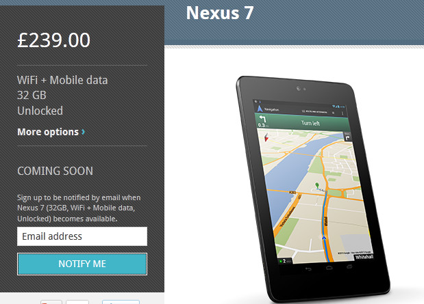 Google Nexus 7 tablet setting cash tills ringing with nearly a million sales per month