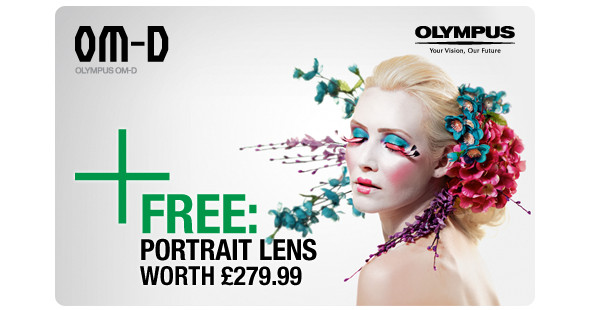 Olympus UK throw in a free tasty 45mm f1.8 lens for Olympus OM-D E-M5 buyers