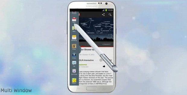 Samsung shows off the power of the Galaxy Note II in impressive lengthy video promo