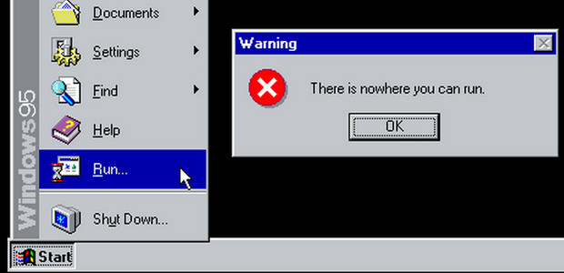 Windows 95 Tips, Tricks, and Tweaks - a lovely parody of system messages