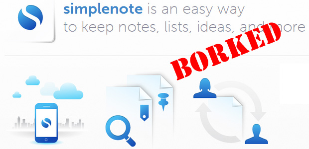 Endless backfiring sync issues mean we have to say goodbye to Simpletext